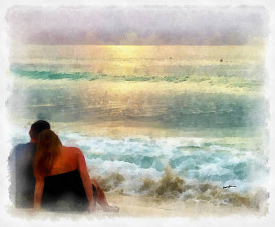 Watching The Sunset Art Print by Anthony Caruso