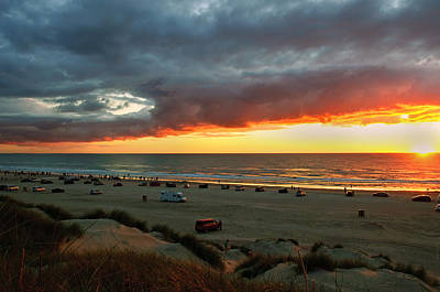 Sand Dunes Photograph - Watching The Sunset by Gry Thunes