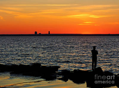 Photograph - Watching The  Sunset by Jeff Breiman