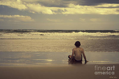 Watching The Waves Art Print