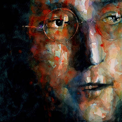 John Lennon Wall Art - Painting - Watching The Wheels by Paul Lovering