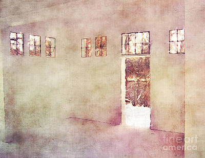 Vacant Mixed Media - Watching Winter Windows by Phil Perkins
