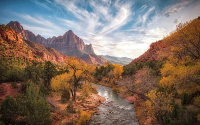 Utah Wall Art - Photograph - Watchman Sunset by Michael Zheng