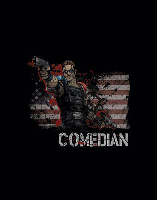 Rorschach Digital Art - Watchmen - Comedian by Brand A