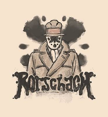 Rorschach Digital Art - Watchmen - Ink Blot by Brand A