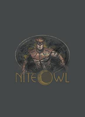 Rorschach Digital Art - Watchmen - Nite Owl by Brand A