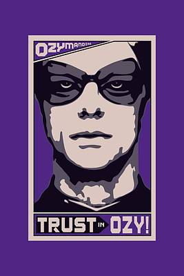 Rorschach Digital Art - Watchmen - Trust In Ozy by Brand A