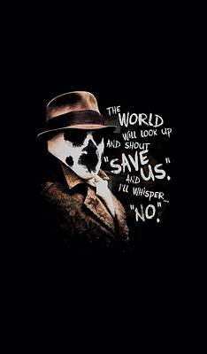 Rorschach Digital Art - Watchmen - Whisper by Brand A