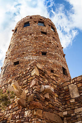 Photograph - Watchtower At Desert View by Ed Gleichman