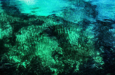 Water Abstraction Art Print by Kim Lessel