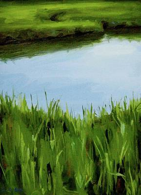Painting - Water And Grass Swirl by Erin Rickelton