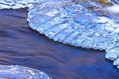 Photograph - Water And Ice 1 by Jeff Sinon