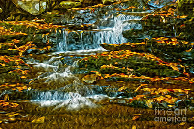 Photograph - Water And Leaves by Paul W Faust -  Impressions of Light