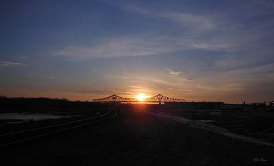 Photograph - Water And Rail Sunrise by Wild Thing