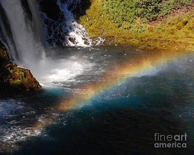 Art Print featuring the photograph Water And Rainbow by Debra Thompson