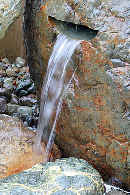 Photograph - Water And Rocks by E Faithe Lester