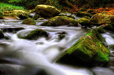 Photograph - Water And Rocks by Greg Mimbs