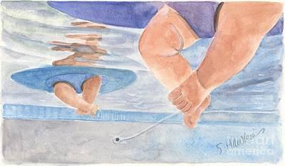 Water Babies Art Print by Sheryl Heatherly Hawkins