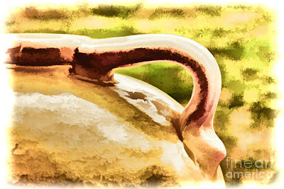 Water Jug Photograph - Water Booze Or Beer Ceramic Clay Jug Painting 3274.02 by M K  Miller
