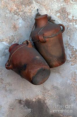 Water Jug Photograph - Water Bottles by Dan Holm