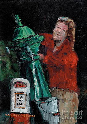 Painting - Water Charges   Suck by Val Byrne