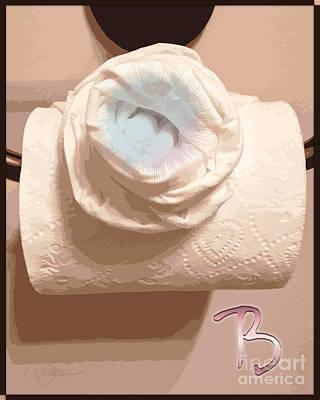 Water Closets Digital Art - Water Closet A Rose Of A Dif Color Dafoi Art 3 Of 3 by Ruth  Benoit