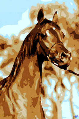 Olympic Sports - Water color Horse by Bruce Nutting