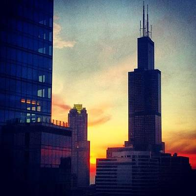 Chicago Photograph - Water Color Sunset by Jill Tuinier