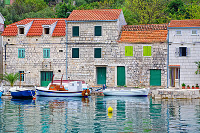 Stone Buildings Photograph - Water-colored Drvenik by Alexey Stiop