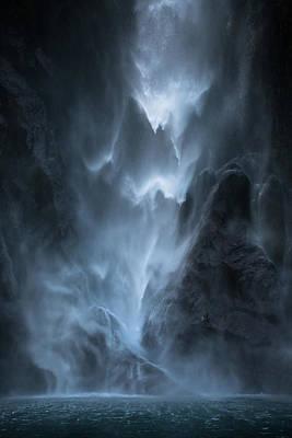 New Zealand Photograph - Water Dance by John Kitching