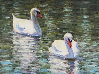 Waterfowl Painting - Water Dance by Michael Camp