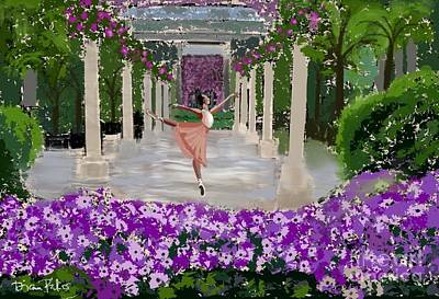 Longwood Gardens Painting - Water Dancer At Longwood  Gardens  by Diana Riukas
