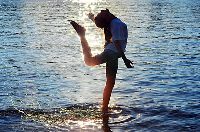 Bare Feet Photograph - Water Dancer by Laura Fasulo