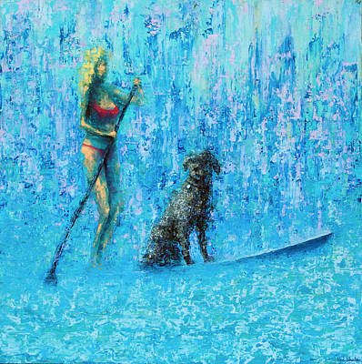 Water Dog Art Print by Ned Shuchter