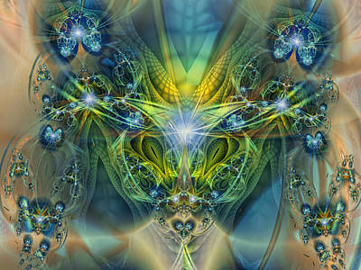 Digital Art - Water Dragon Fractal by Mary Almond