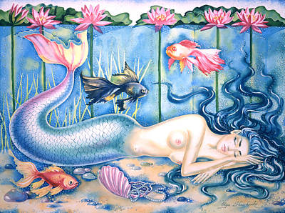 Water Dreams Art Print by Olga Shevchenko