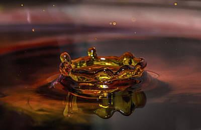 Art Print featuring the photograph Water Drop Art by Peter Ciro