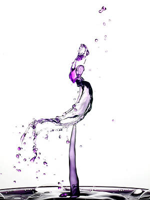 Water Drop Collision Liquid Art 9 Art Print by Paul Ge