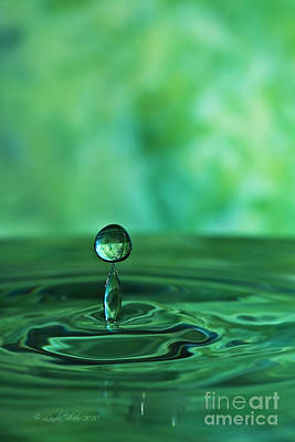 Water Drop Green Art Print