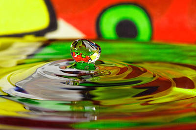 Art Print featuring the photograph Water Drop by Peter Lakomy
