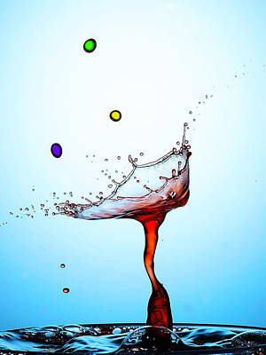 Water Drops Collision Liquid Art 18 Art Print by Paul Ge