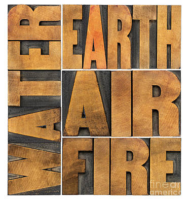 Water Earth Air And Fire Art Print