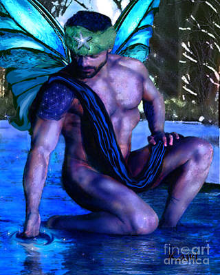 Digital Art - Water Fairy Prince by Kami Catherman