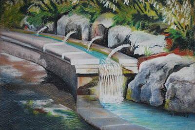 Water Fall In The Gratto Original by Joy Bradley
