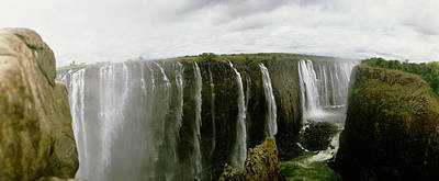 Victoria Falls Photograph - Water Falling Into A River, Victoria by Panoramic Images