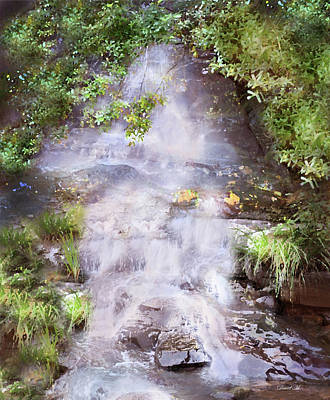 Fall Leaves Drawing - Water Falls by David M ( Maclean )