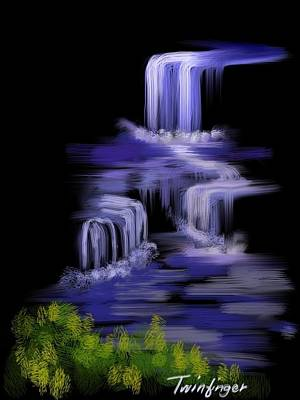Water Falls Art Print by Twinfinger