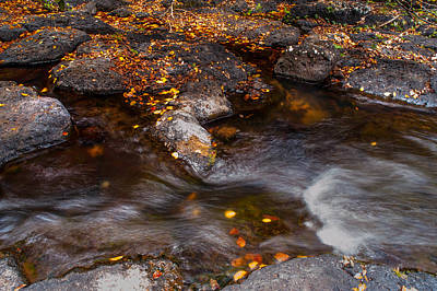 Photograph - Water Flow Through The Boulders. Eureka. Mauritius by Jenny Rainbow