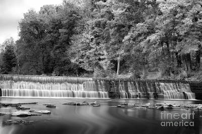 Photograph - Water Flowing Over Dam In Bruceton Mill Wv by Dan Friend