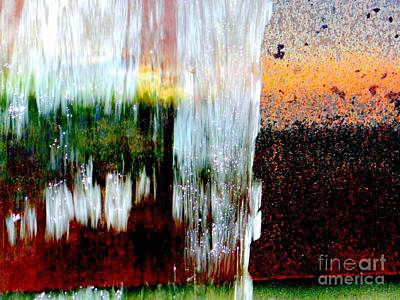 Photograph - Water Fountain Abstract29 by Ed Weidman